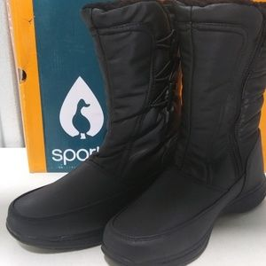 Sporto Dana Waterproof Boots, Black, 8.5